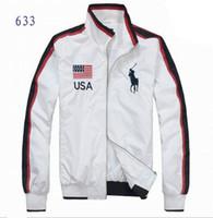 2014 fashion brand long sleeve men jacket coat American Flag...