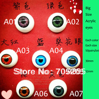 doll accessories - Lovely pairs mm whole sale acrylic eyes for doll s accessories customized