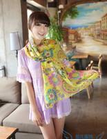 Wholesale Hot sale scarf PC cm fantacy phonoscope lady long chiffon silk scarf WJ