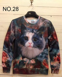 2014 new Winter print Pullovers mens hoodies Sweaters 3D Sweatshirt women's Sweatshirts men's T Shirt 100 design Star Cat