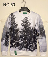 Wholesale 2014 new Winter print Pullovers mens hoodies Sweaters loves Stereo D Sweatshirt women s Sweatshirts men s T Shirt design Cedar