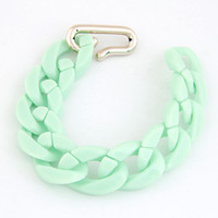 Cheap Wholesale-Min. order $10(Mix item) 2014 New Europe&America fashion Wild temperament simple candy-colored chain bracelet body chain ACO2141