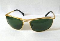Wholesale 1 pair High quality Sunglasses Gold Frame Green Lens New men sports sunglasses Women Designer glasses With Box