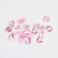 Wholesale mm heart crystal stones floating charms pink fit Floating lockets FS1005