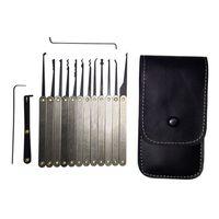Wholesale New set Hook Picks Lock Pick Sets Stainless Handles w Bag Removing Broken Key Tool Locksmith Tools Lockpick Dropshipping