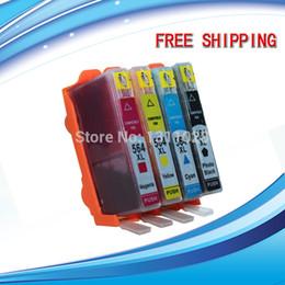 4 Pack Ink Набор для струйного картриджа HP564 для HP564XL с уровнем чернил Chip show show для Photosmart 5400 5510 5514 5515 5520 и т. Д.