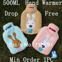 Wholesale 21x14CM ML PC Le Sucre Hot Water Bag For Winter With Plush Cover Drop