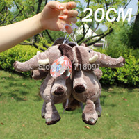 Wholesale 20CM PC Brand NICI Jungle Brothers Plush Stuffed Toy Elephant Pendant With Sucker Drop