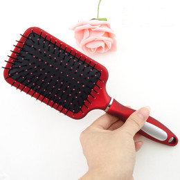 Wholesale 1PC Hair Care Massage Flat Comb Brush Pin Reduce Hair Loss Healthy Tool Red Handle