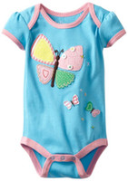 Wholesale Girl s Butterfly romper cotton jumpsuit New arrive Newborn summer romper Baby Boy Clothes ZQZ900H