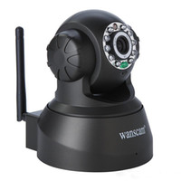 Wholesale Wireless IP Camera WIFI Webcam Night Vision UP TO M LED IR Dual Audio Pan Tilt Support IE