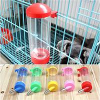 Wholesale Practical ml Pet Dog Rabbit Water Drinker Dispenser Hang Bottle Auto Drinking Head Pipe