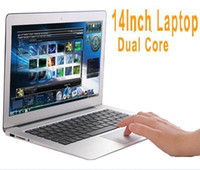 Wholesale 14 inch Dual Core laptop tablet pc DDR3 GB TO GB GB TO GB Win7 win Air Book D2500 J1800 Notebook Computer PC ultrabook