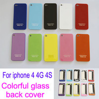 Wholesale Colorful Back Battery Glass Cover Housing Case Replacement For iPhone S