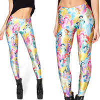 Cheap Free shipping new 2014 punk rock fashion women black milk legging fitness clothing for women leggings Princess leggings