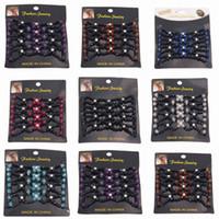 achat en gros de pinces à cheveux ronds-Clips de Crystal Round perlé Flower Vintage EZ Magic Hair Comb Elastic Double Femmes Accessoires cheveux Retro Headwear