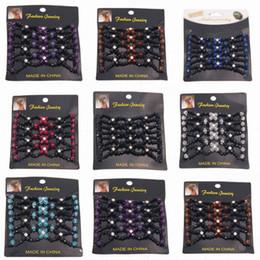 Promotion pinces à cheveux ronds Clips de Crystal Round perlé Flower Vintage EZ Magic Hair Comb Elastic Double Femmes Accessoires cheveux Retro Headwear