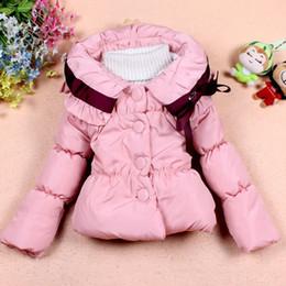 Wholesale Winter Girls Cute Bow Coat Fashion Children s Long Sleeve Lovely Outwear Kids Clothing Korean Baby Jacket