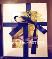 Wholesale EMS cm PVC window pc cupCake box Cupcake boxes with Insert cooking tools