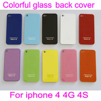 Wholesale Back Glass Battery Housing Door Back Cover cases For iphone S Multicolor optical