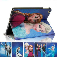 Wholesale Cartoon Frozen Gril Elsa Anna Olaf Sven PU Leather Flip Case Cover Tablet ipad mini protective sleeve th with Stand Holder