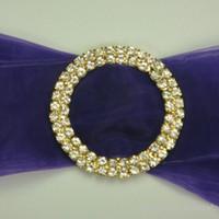 Wholesale mm Rhinestone Buckle Invitation Ribbon Slider Crystal Diamante Chair Sash Wedding Supplies Garment Accessories