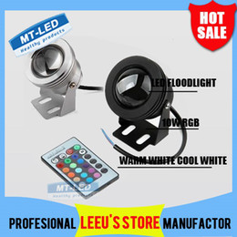 Wholesale DHL W RGB Floodlight light Underwater LED Flood Lights Swimming Pool Outdoor Waterproof lighting Round DC V Convex Lens