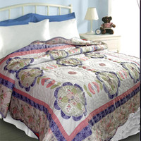 Wholesale Quality handmade applique quilting embroidered quilting by air conditioning bed cover