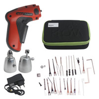 Wholesale New KLOM Cordless Electric Lock Pick Gun Auto Pick Guns Lockpicking Locksmith Tools Drop Shipping LS022