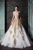 Wholesale Beautiful Rami Kadi Wedding Dresses Applique Beads Floor length A line Tulle Wedding Dress Bridal Gowns