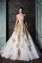 Wholesale Beautiful Rami Kadi Wedding Dresses Applique Beads Floor length A line Tulle Wedding Dress Bridal Gowns