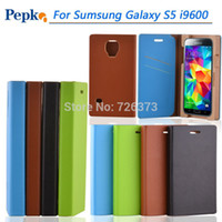 Wholesale 100 New arrival Original taktik pepkoo Leather wood with card holders Anti scratch case For samsung galaxy s5