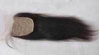 Cheap Brazilian virgin hair Human Hair Straight Silk Base Closures Bleached Knots Unprocessed Hair Rosa Hair Products Best quality three Part free