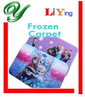 Wholesale Frozen carpet Floor mats rug Christmas home decoration Home Textiles cm cm Printed pvc non slip foam blue purple water dust absorbent