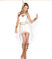 Cheap 2014 Cosplay Costume Vienna Greek Goddess Fairy Dress Halloween Suits Party Dresss White