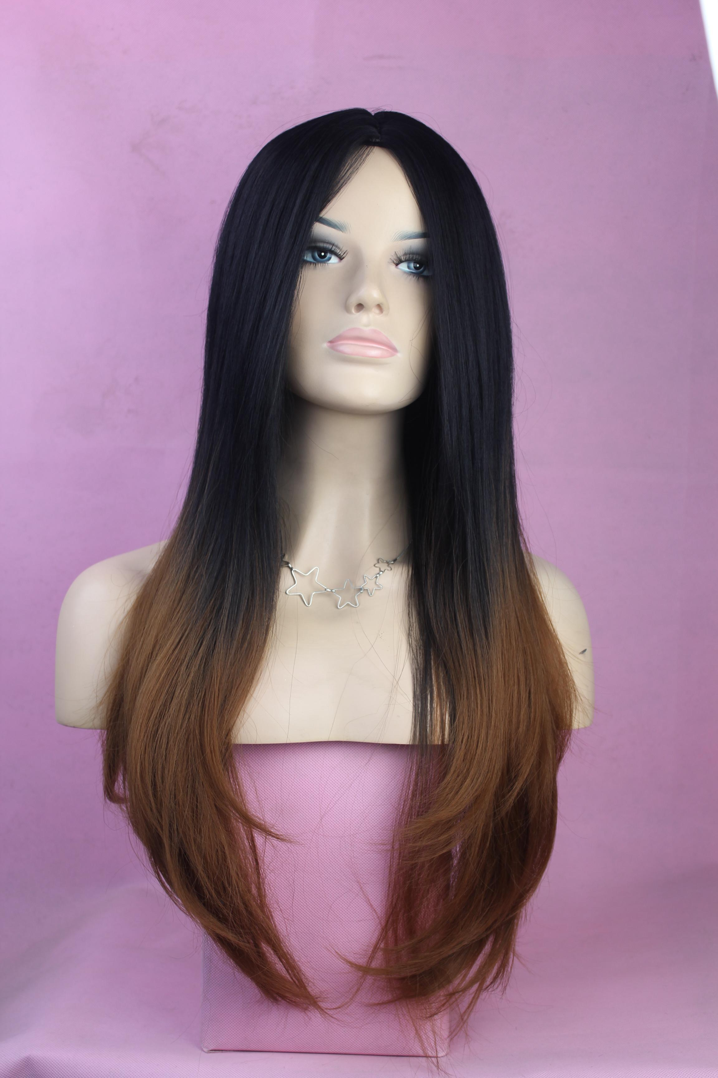 Phenomenal Ombre Two Tone Color Fashio Celebrity Wig Big Wave Female Wigs Short Hairstyles For Black Women Fulllsitofus