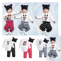 Wholesale itong children s clothing cute cartoon boys and girls long sleeved three sets of suits