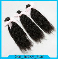 Wholesale Curly Kinky Hair Beautiful - Beautiful Forever!Brazilian Hair Kinky Curly Human Hair Weave Wefts Extensions Dyeable 3Pcs Lot 6A Grade Natural Color Free Shipping