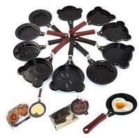 Wholesale Mini Shaped Egg Fry Frying Pan Cook pan Non Stick have Pot Lids Various Egg Frying Pancakes Kitchen Pan Housewares Cauldron
