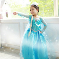 dress material - Frozen dresses Elsa Anna dresses Long sleeve baby girl dress material cotton Size