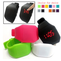 Wholesale New Colorful Soft Led Touch Watch Jelly Candy Silicone Digital Feeling Screen Watches Free DHL Shipping