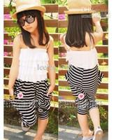 Sample 1pc Retail zero profit baby girl kids stripe romper o...