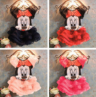 Wholesale Summer New Children Girl s PC Sets Skirt Suit Minnie Mouse baby Clothing sets princess skirt girls clothes