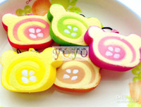 Universal kawaii squishy - New Kawaii Squishy Cake Wolesale Japanese cartoon Egg Roll Cell Phone Charm Squishy Bread Phone Accessories
