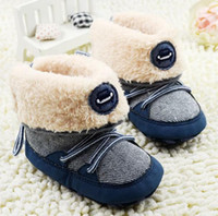 free shipping shoes - Winter Baby Snow Boots Stocking Soft Bottom Warm Infant Boots Toddler Babies First Walker Shoes pair WD201