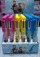 Wholesale 2014 Frozen princess Elsa anna colors ballpoint pen ELSA ANNA automatic pen student office stationery Children Cartoon pen FZ81