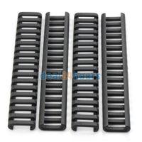 Wholesale Piece Set slot Ladder Rail Cover Quad Handguard Weaver Picatinny BLACK quot New