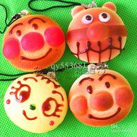 kawaii squishy - Christmas Gift New Arrival cm Kawaii Squishies Japanese Bread Superman Phone Charm Squishy Bun