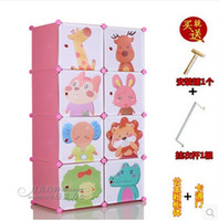Cheap Special offer diy magic piece of units Children's baby bookcase chest receive ark WanJuGui cartoon model