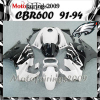 Cheap white black for honda CBR600 F2 91 92 93 94 91-94 Years ABS Plastic Bodywork Set CBR600F2 CBR 600 F2 600F2 91 94 1991 1992 1993 1994 Fairing